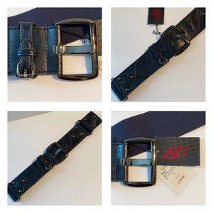 Accessories - 🆕NWT-DI FIRENZE Belt- Black w/ black/navy stretch